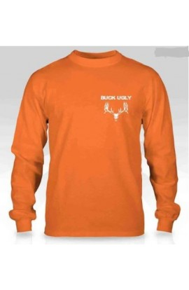 Buck Ugly Deer Long Sleeve Safety Orange