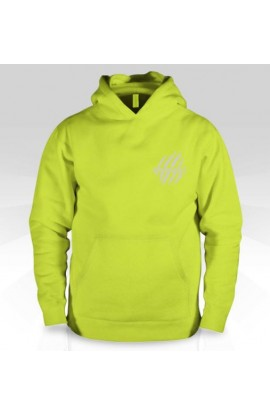Buck Ugly Bear Hoodie Safety Green