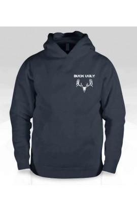 Buck Ugly Deer Hoodie Black