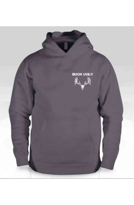 Buck Ugly Deer Hoodie Charcoal