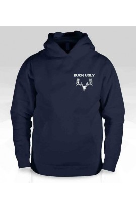 Buck Ugly Deer Hoodie Navy