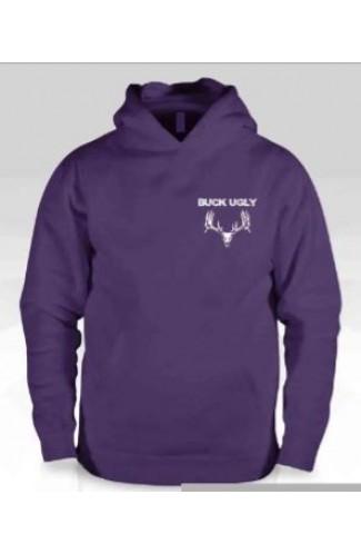 Buck Ugly Deer Hoodie Purple