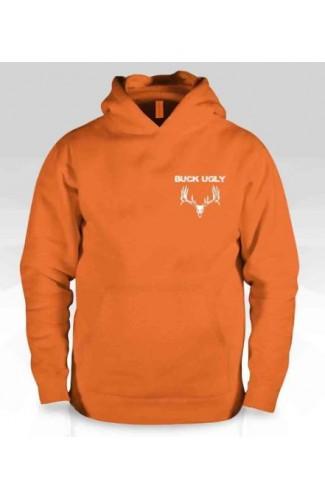Buck Ugly Deer Hoodie Safety Orange
