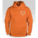 Buck Ugly Bear Hoodie Safety Orange